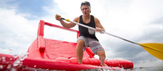 SUPstacle Challenge in Glücksburg am 6.7.14 (Ostsee-Strandfrühstück)