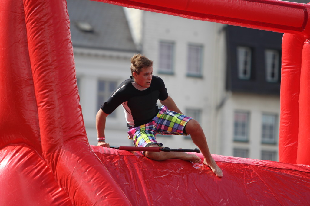 SUPstacle Action in Flensburg Slide