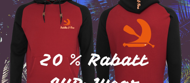 Aktuelle Aktion: 20% auf Paddles & Fins SUP-Wear im Shop